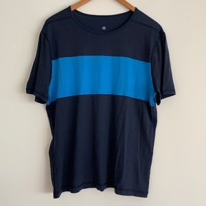 lululemon Men's Colourblock Tech T-Shirt Blue SzL